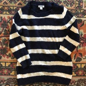 Blue and a White Striped Sweater